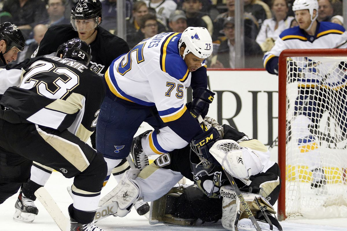 the best attitude feade d7a38 Ryan Reaves traded to the Pittsburgh Penguins - St. Louis ...