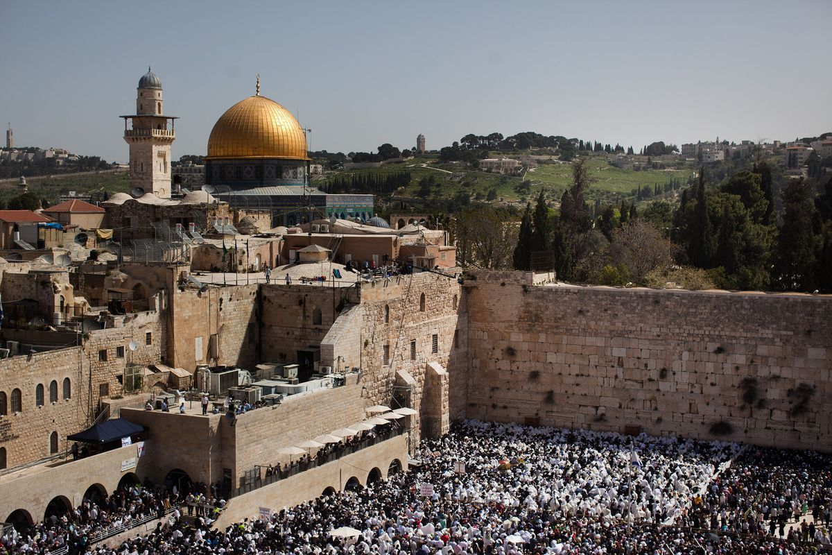 Jerusalem: the Western Wall and the Dome of the Rock. (July, 2014)