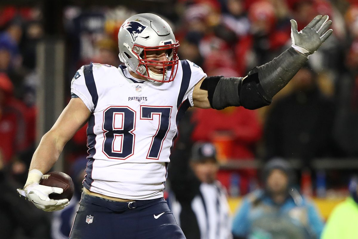 new product afb9b 8a145 Rob Gronkowski retires with 3 Super Bowl rings. What's next ...