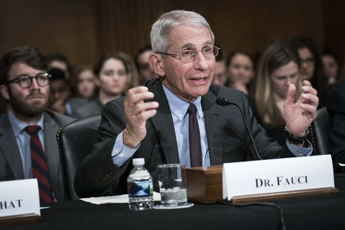 Anthony Fauci, director of the NIH's National Institute of Allergy and Infectious Diseases, testifies before the Senate in early March.