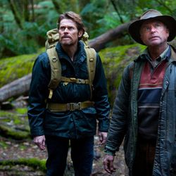 """In this film publicity image released by Magnolia Pictures, Willem Dafoe, left, and Sam Neill are shown in """"The Hunter."""""""