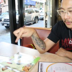 Inside ABC Bakery Cafe, dissecting Hainan chicken