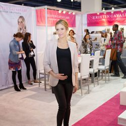 A pregnant Kristen Cavallari touted her shoe collection with Chinese Laundry. Photos: MAGIC Market Week