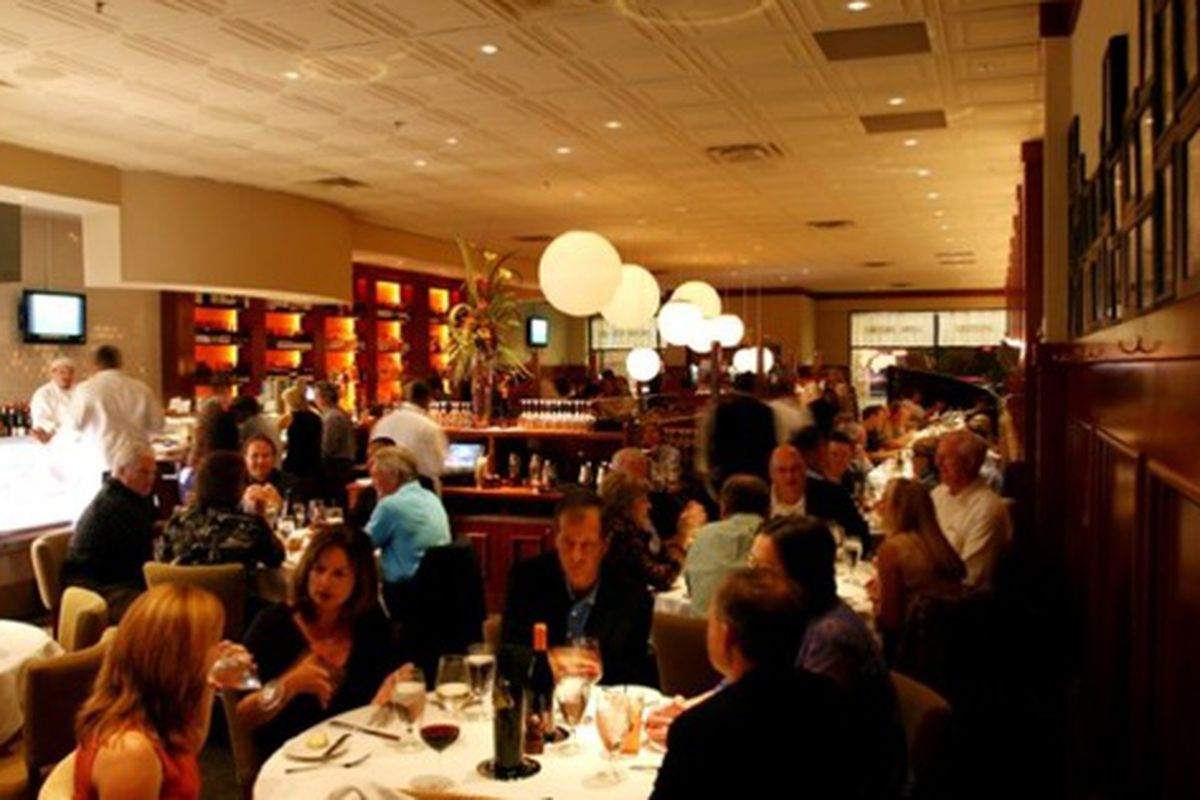 The dining room at C&S Seafood Bar.
