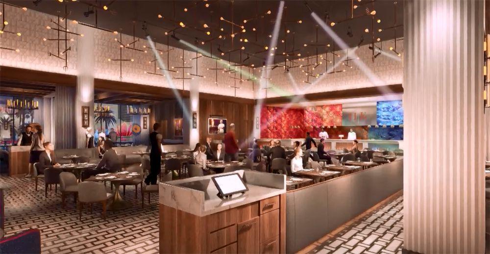 Gordon Ramsay Hell's Kitchen dining room rendering