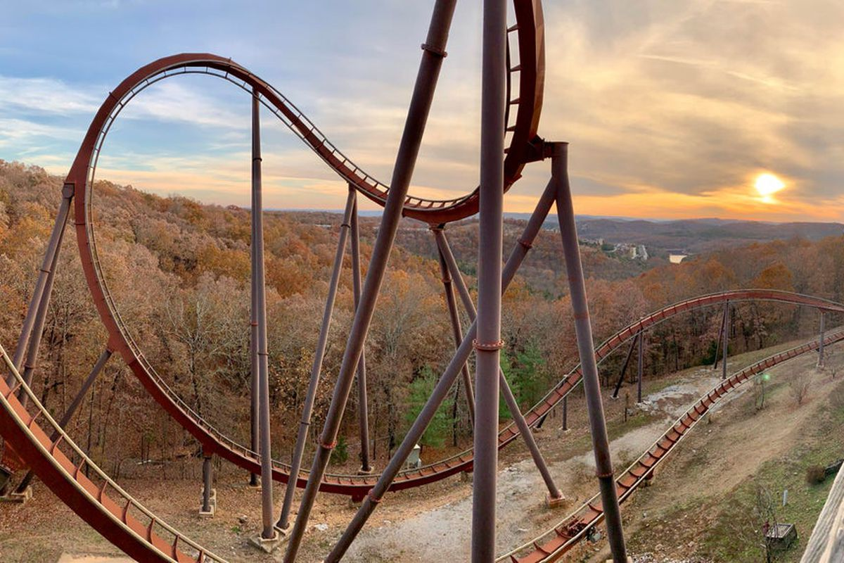 The roller coaster Wildfire at Silver Dollar City in Branson, MO
