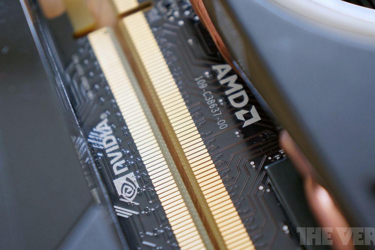 AMD Nvidia logo stock