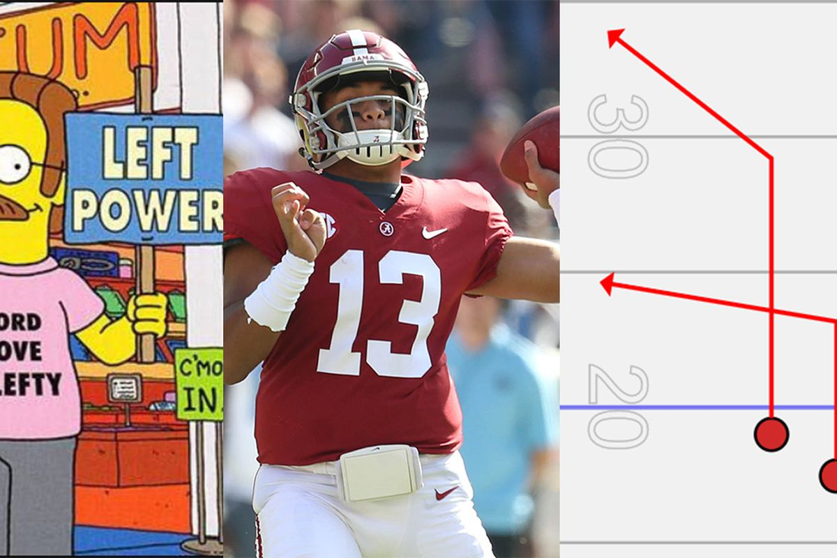 Tua Tagovailoa s a left-handed QB. Here s how Alabama built him an ... 0f7ccc764