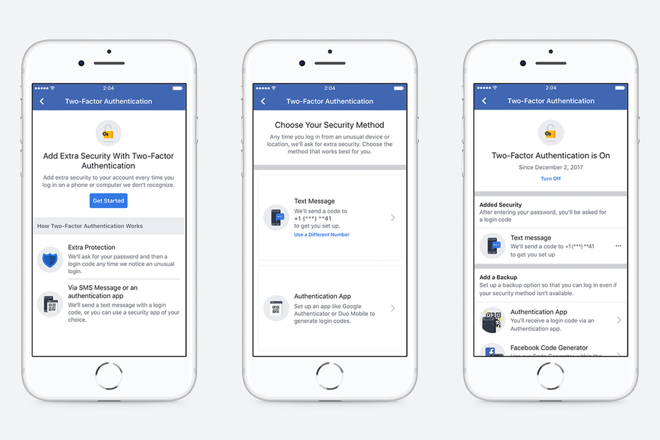 facebook s new two factor authentication process no longer requires a phone number