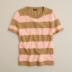 """Dream stripe sweater tee, <a href=""""http://www.jcrew.com/womens_feature/catalogjcrewcomexclusives/onlineshops/sweaters/PRDOVR~63711/99102585619/ENE~1+2+3+22+4294967294+20~~~20+17+4294967133~90~~~~~~~/63711.jsp"""">$34.99</a> with code."""