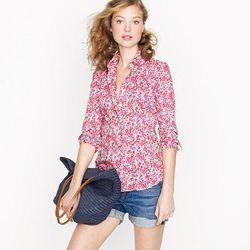 """<a href= """"http://www.jcrew.com/womens_category/shirtsandtops/casualshirts/PRDOVR~65520/99102599070/ENE~1+2+3+22+4294967294+20~0~~20+17~90~~~~~~~/65520.jsp"""">Liberty perfect shirt</a>, $69.99"""