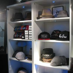 New Era headwear at The Presenters gift lounge backstage at Nokia Theatre