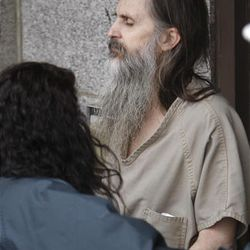 Brian David Mitchell leaves federal court in Salt Lake City Friday after a jury found him guilty of kidnapping and repeatedly raping Elizabeth Smart. Mitchell will be sentenced May 25, 2011, at 2:30 p.m.