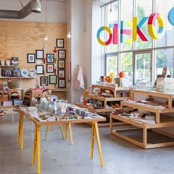 """Of course, an Arts District adventure wouldn't be complete without a visit to <a href=""""http://la.eater.com/archives/2014/02/25/the_essential_guide_to_pies_in_los_angeles.php"""">essential</a> gift shop <a href=""""http://www.poketo.com"""">Poketo</a> (820 E 3rd St"""