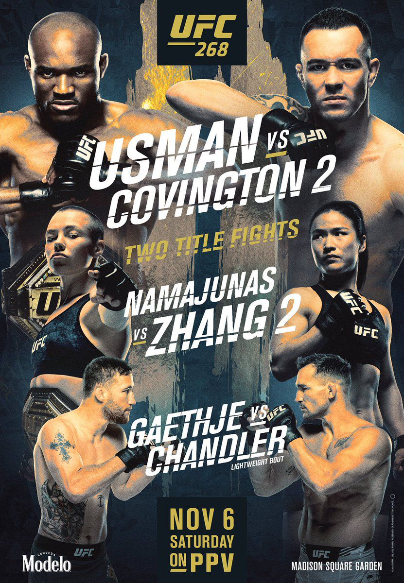Pic: UFC 268 official poster drops for 'Usman vs. Covington 2' in New York  City - MMAmania.com