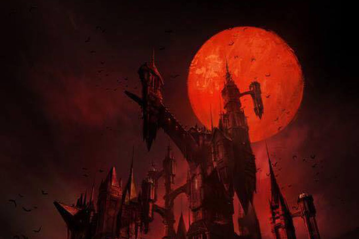 netflix's castlevania series gets a poster teasing dracula's