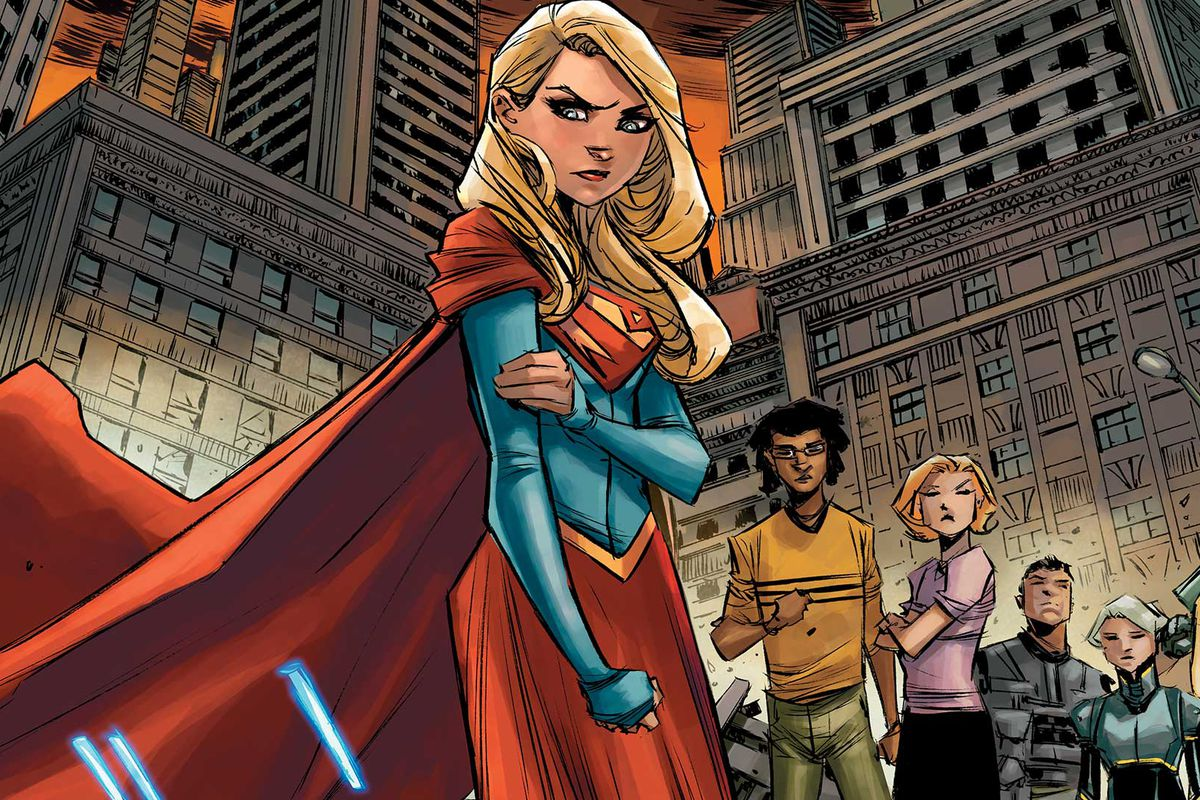 An illustration from Supergirl #6
