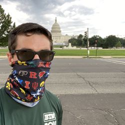 """Here's the start of my """"race"""" just across 3rd Street NW from the Capitol Reflecting Pool at the """"start"""" of the National Mall."""