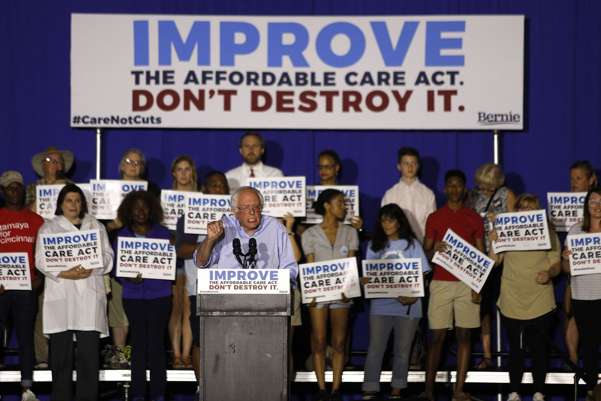 Bernie Sanders Holds Kentucky Rally To Urge McConnell Not To Repeal ACA