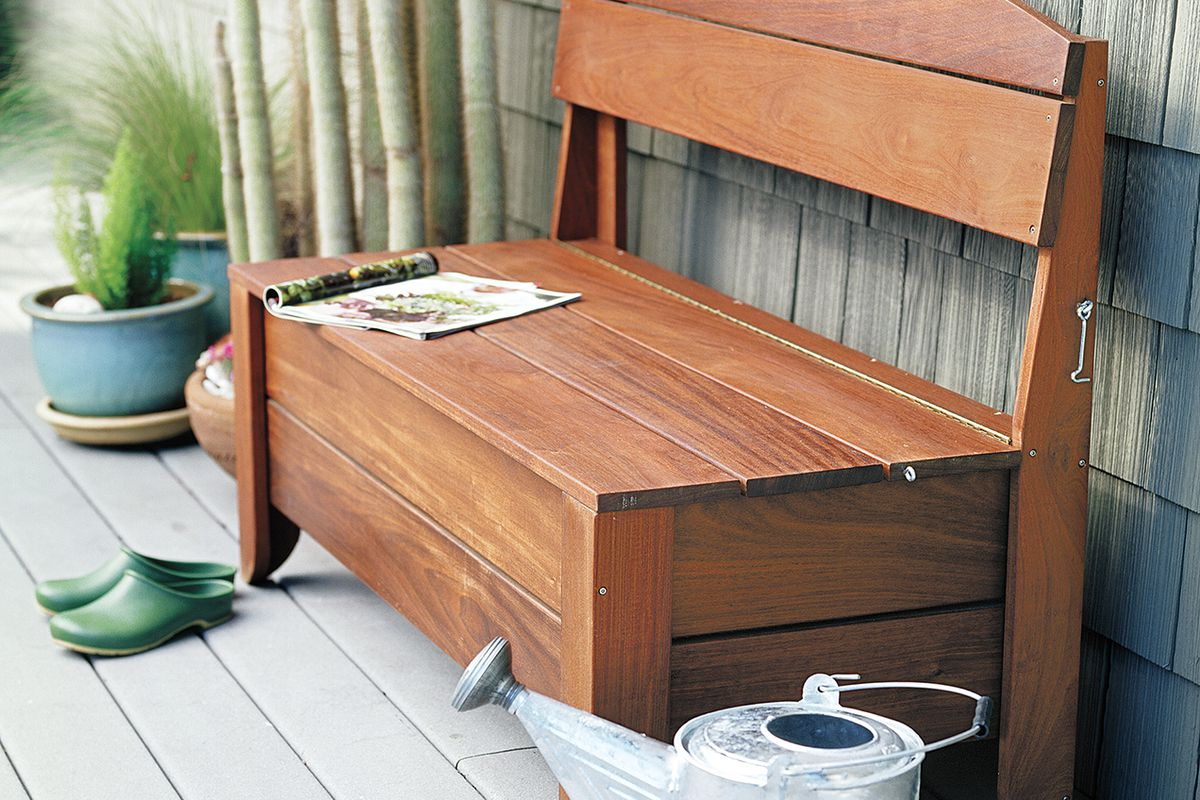 How to Build a Bench With Hidden Storage - This Old House