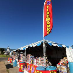 Customers shop for fireworks In Bountiful on Thursday, June 29, 2017. In Utah, fireworks can be enjoyed during the three days before, during, and three days after the holiday. People may light fireworks between 11 a.m. and 11 p.m. and as late as midnight on July 4.