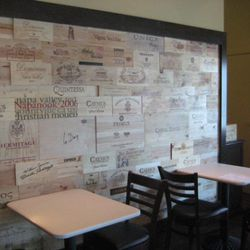 Walls, too, are lined with wine crates to show that Pizzeria Da Marco is also all about wine.
