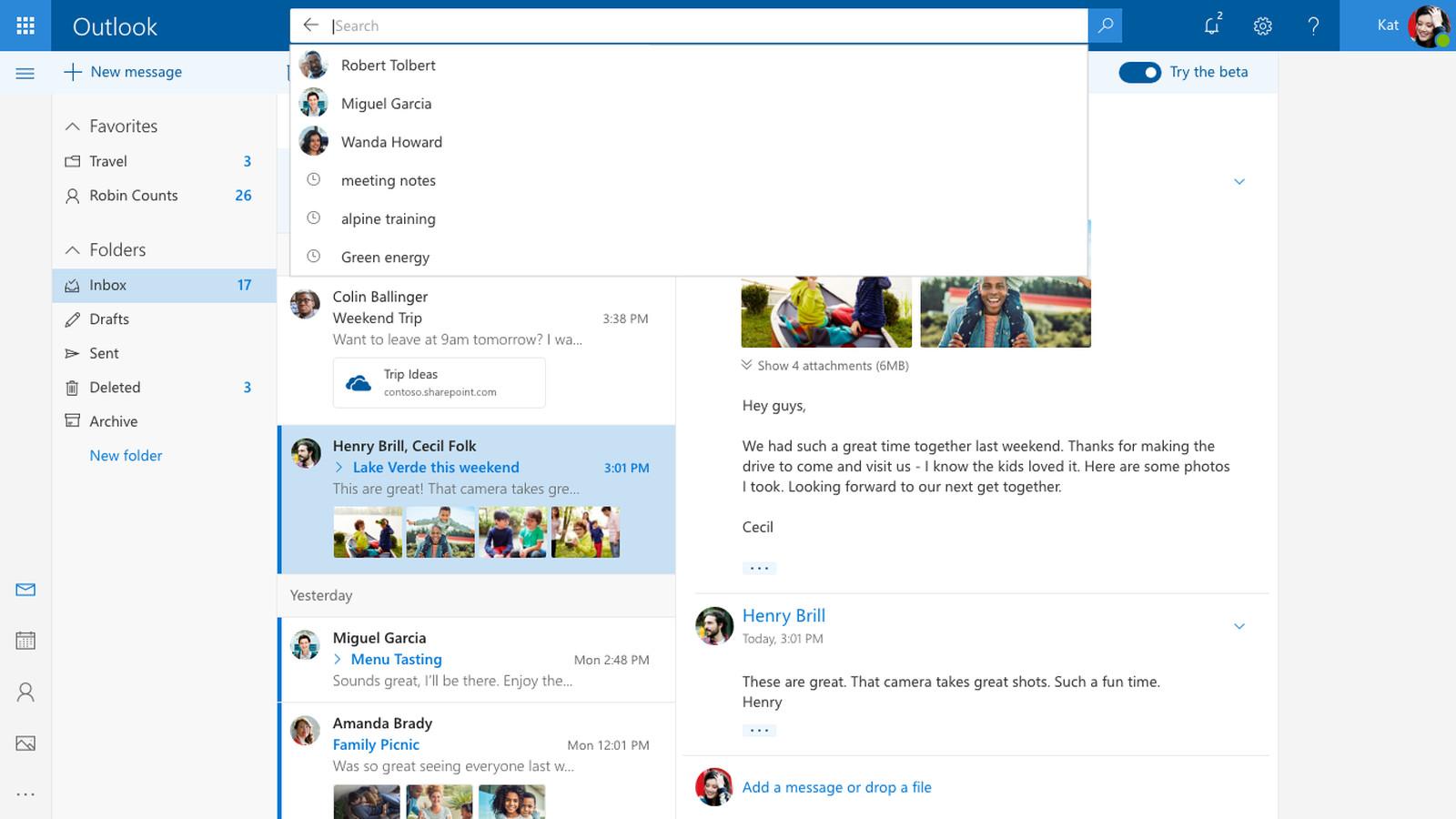 Startseite Hotmail