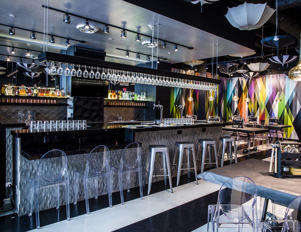 A look at the bar at Upstairs Circus