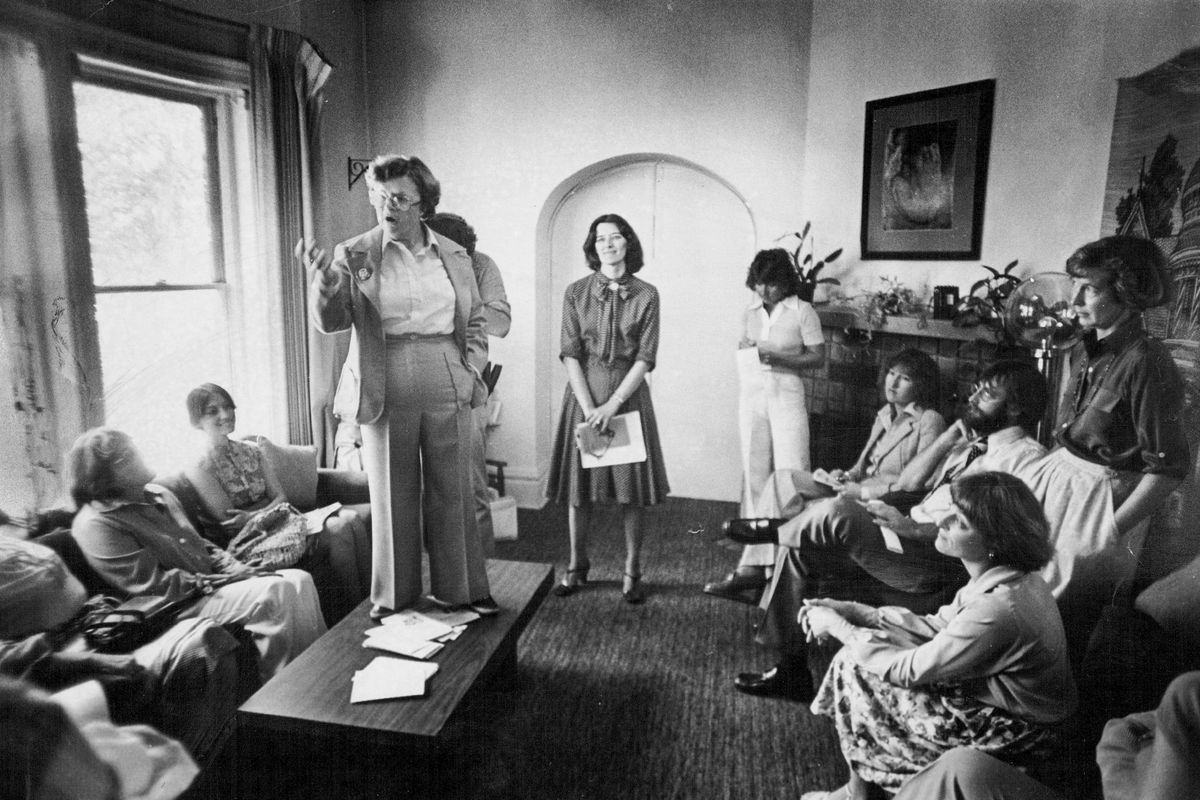 Rep. Barbara Mikulski (D-Maryland) discusses her legislation to help women suffering from domestic violence at the York Street Center, on August 31, 1978.