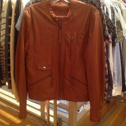 Leather jacket, $250