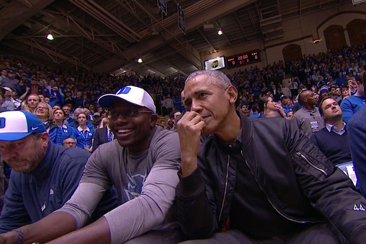 a825a736c Barack Obama was at Duke vs. North Carolina with these other ...