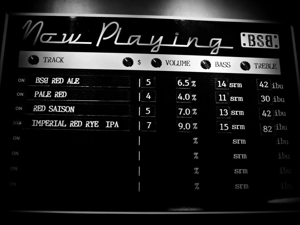 The Menu Board at Black Shirt Brewing Co.