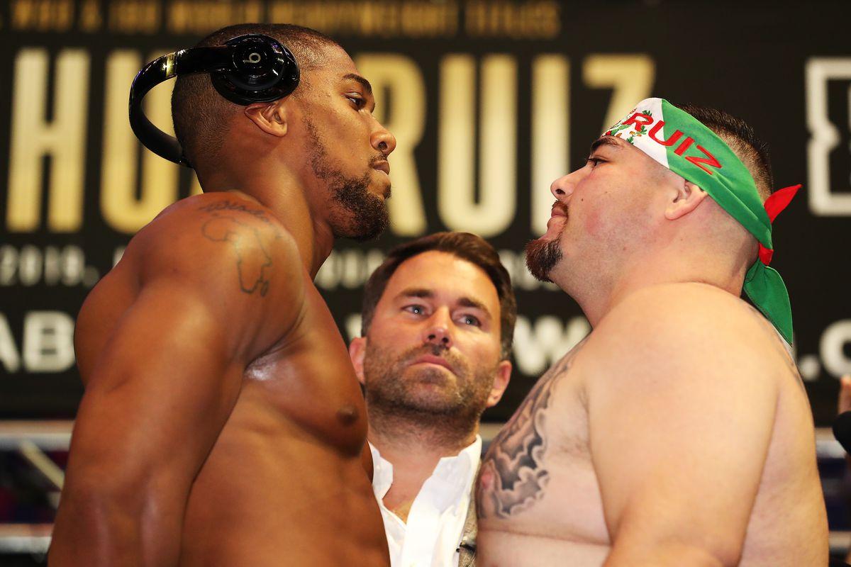 Anthony Joshua v Andy Ruiz Jr. - Weigh-in