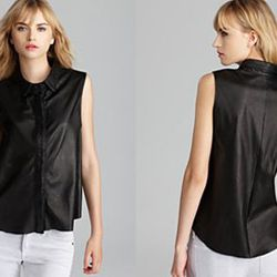 """<strong>Rag & Bone</strong> Leather Tent Tank, <a href=""""http://shop.nordstrom.com/s/rag-bone-tent-leather-tank/3553926"""">$550</a> at Nordstrom"""
