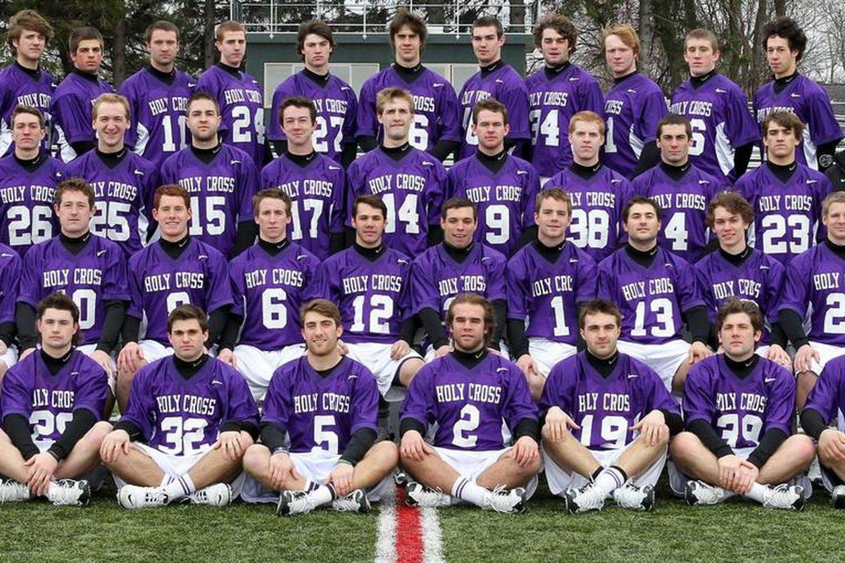 """Adorable! via <a href=""""http://goholycross.com/sports/m-lacros/2010-11/photos/2011_Men-s_Lacrosse.JPG"""">goholycross.com</a>"""