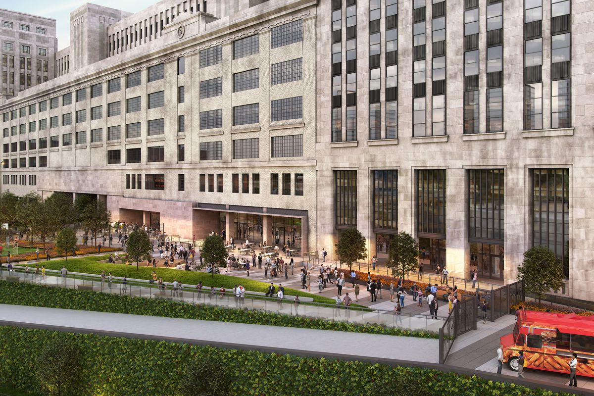 Developer takes wraps off of Old Chicago Main Post Office