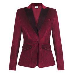Velvet Blazer in Ruby Red, $59.99 (Available on Net-A-Porter)