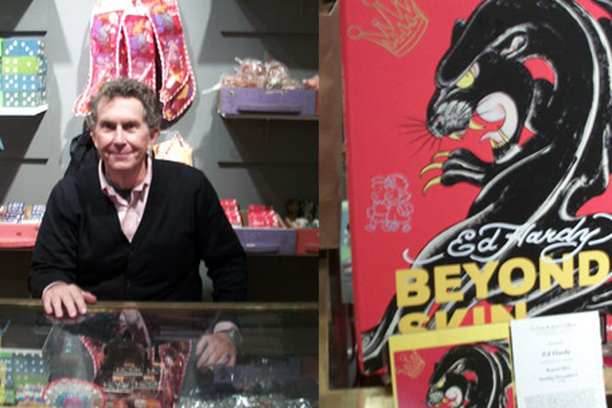"""Ed Hardy is the least """"Ed Hardy""""-like person you've ever met. And the artwork is pretty magnificent (it's sans rhinestones.)"""
