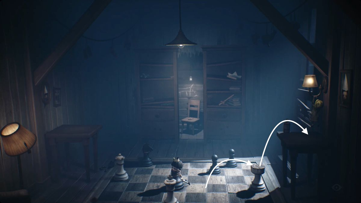 Little Nightmares 2 Chess piece puzzle solution