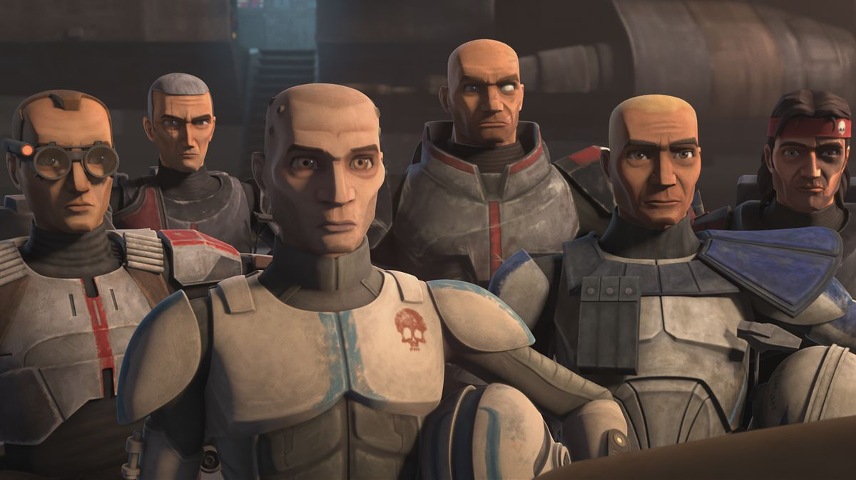 Echo and the Bad Batch clones from Clone Wars season 7