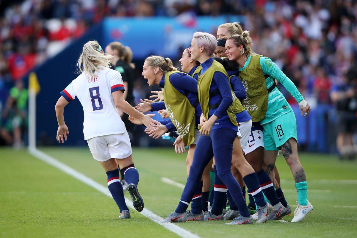 Soccer News: Julie Ertz scores first career World Cup goal