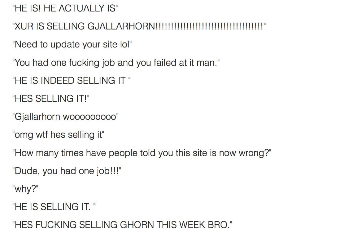 he's selling it