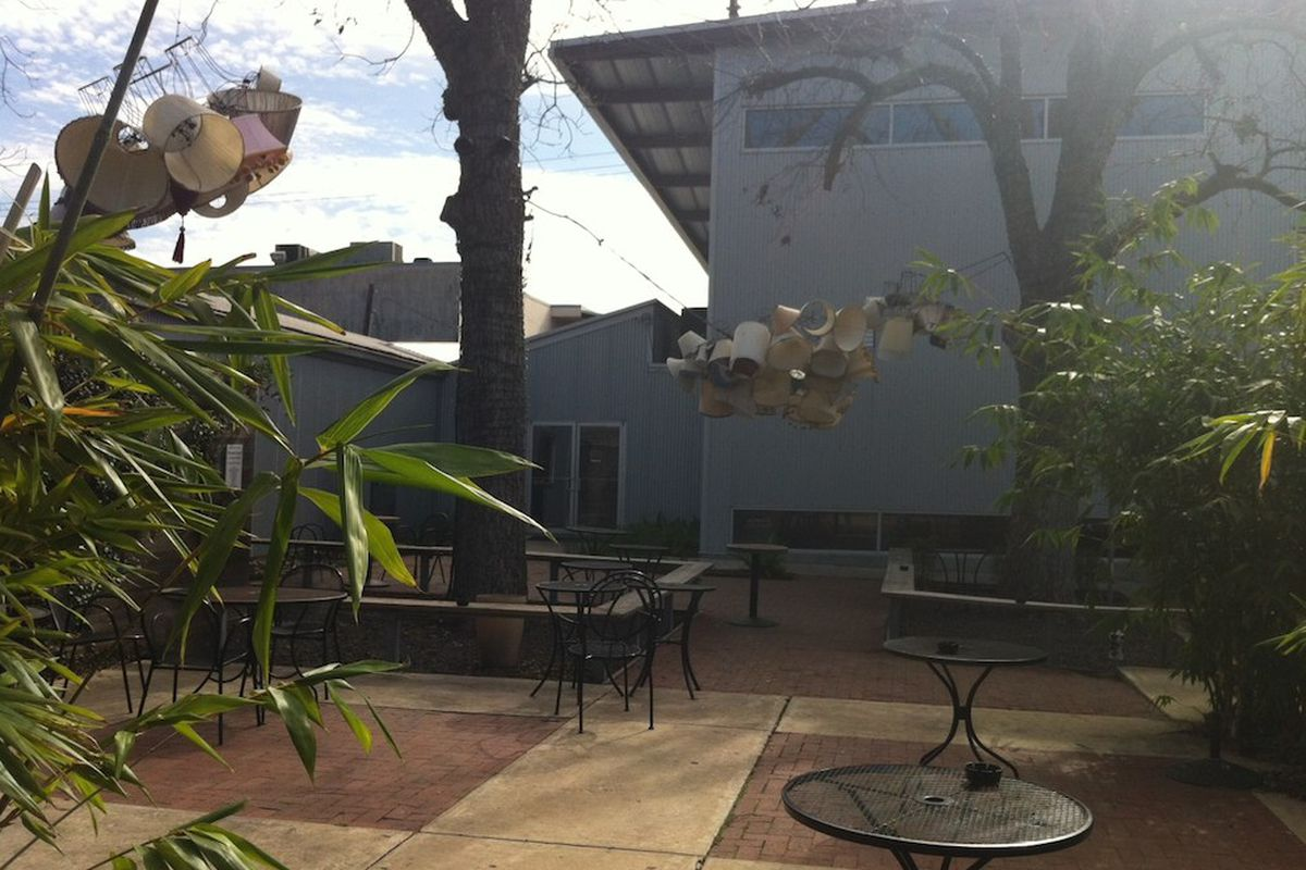 The courtyard at Inversion Coffee House in Montrose.