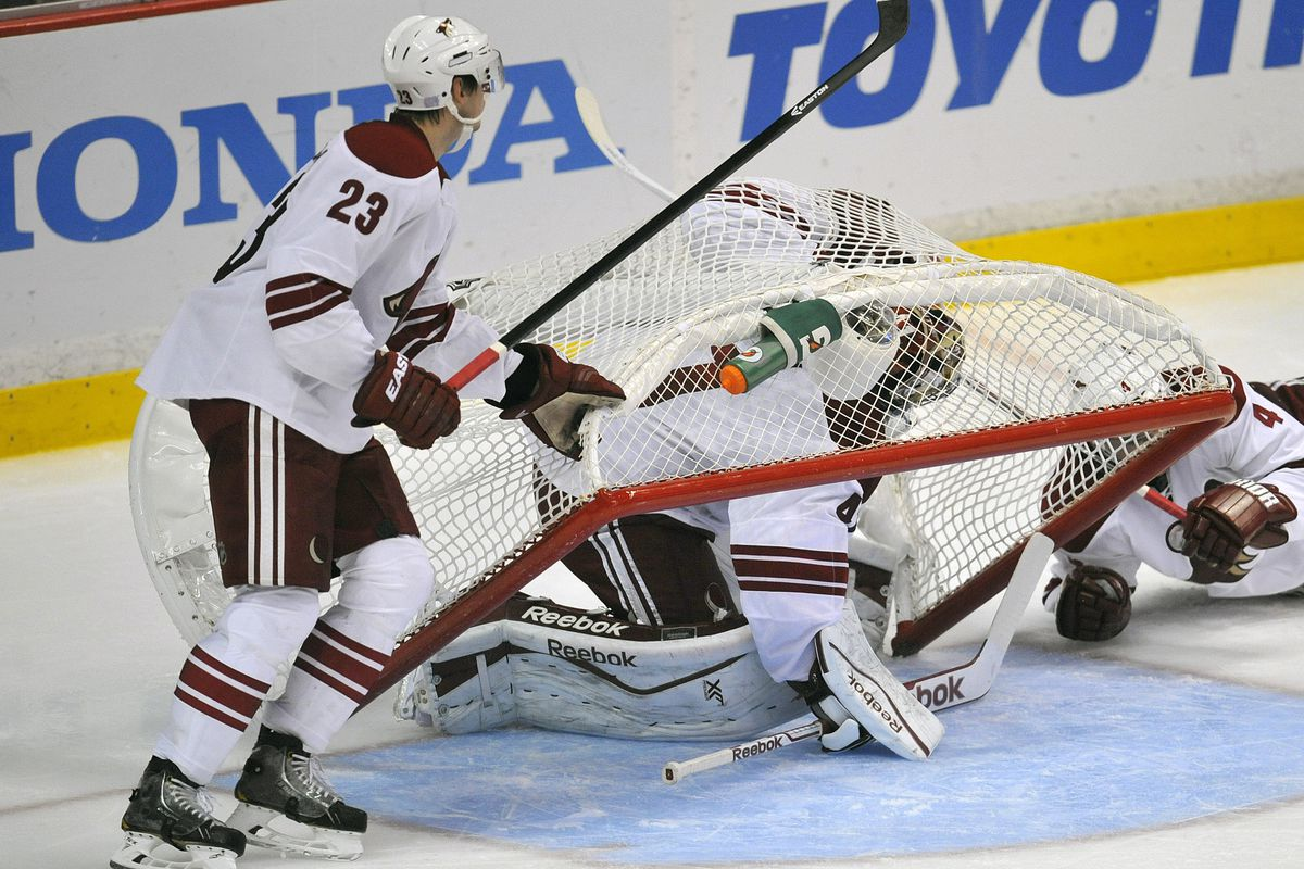 That's one way to keep the puck out of the net.