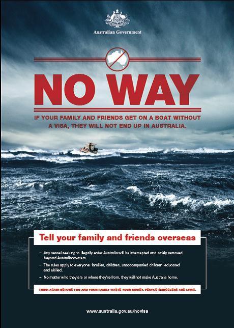 Australia immigration poster No Way