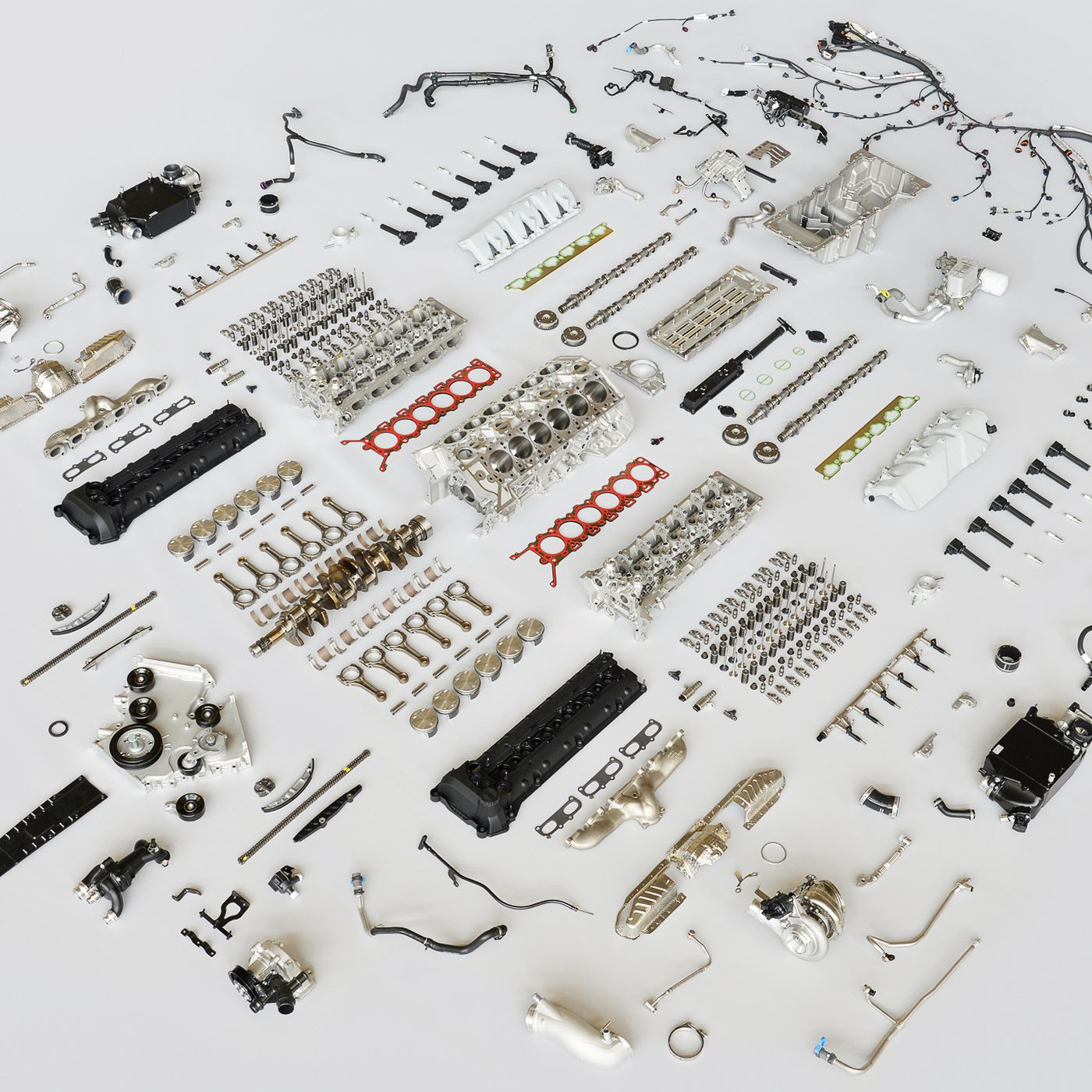 This disassembled Aston Martin DB11 engine is engineering ...