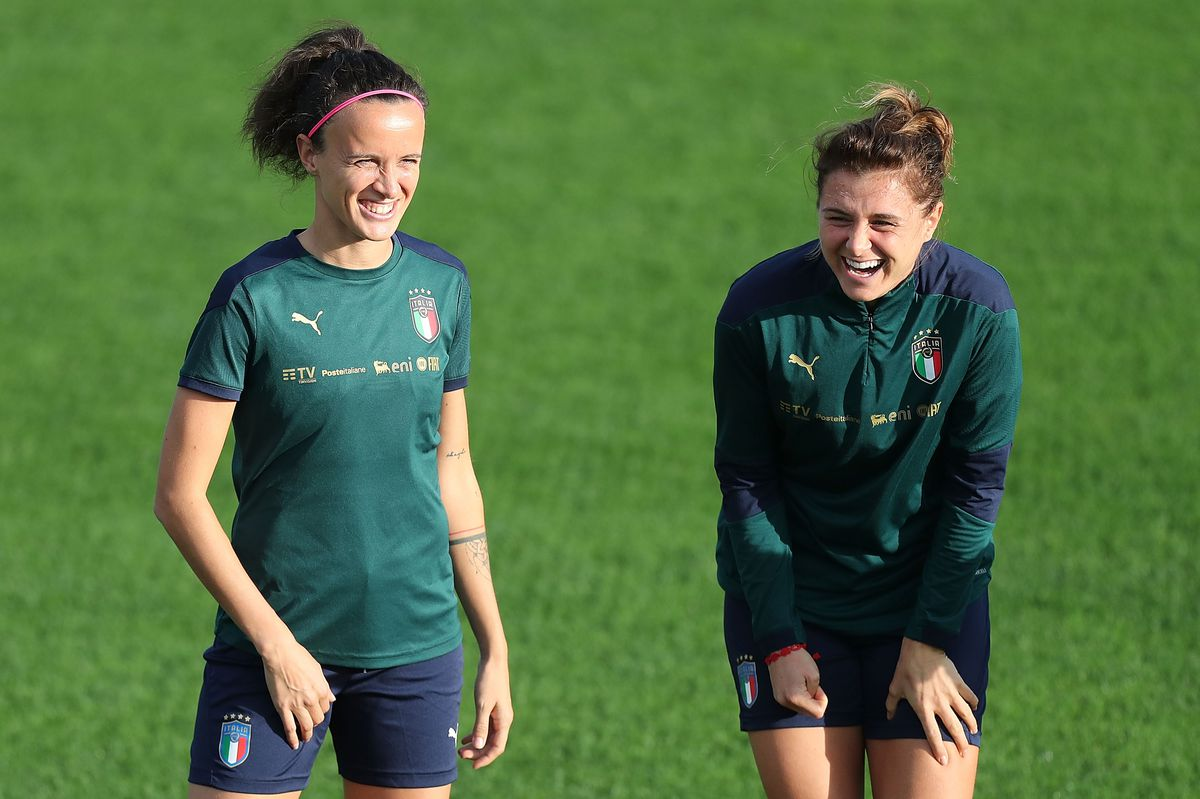 Italy Women Training Session & Press Conference