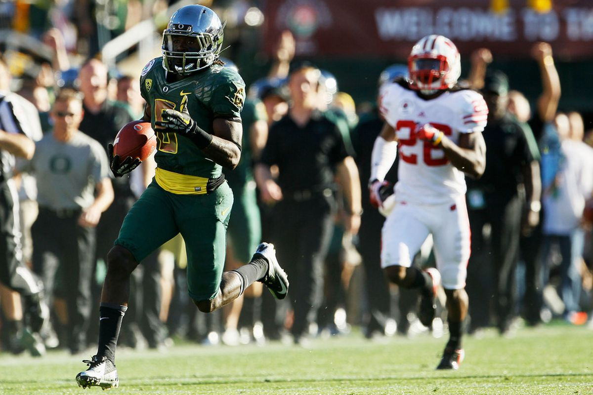 My recollection of the Rose Bowl:  one team getting smoked by a mediocre team. (Photo by Jeff Gross/Getty Images)