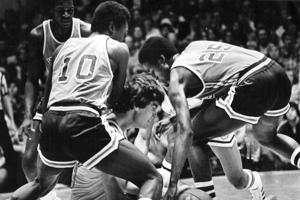 FEB 10 1979, FEB 11 1979; Colorado's Dave Netherton Gets Caught Sitting In Den of Wildcats; Netherto