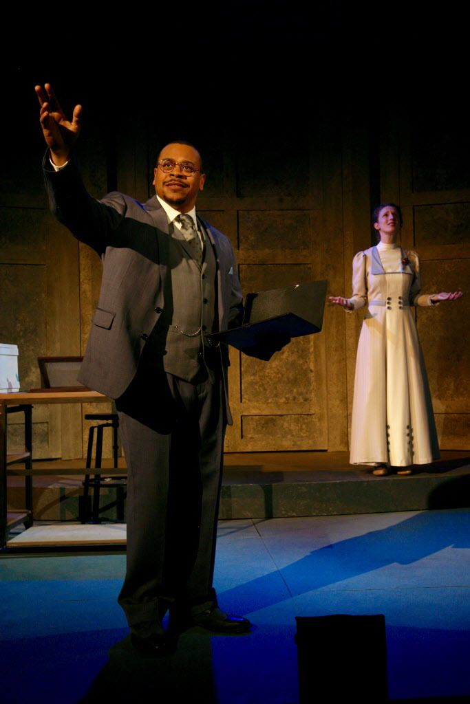 """Wardell Julius Clark and Cassandra Bissell in """"Silent Sky"""" at First Folio Theatre. 